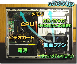HP Pavilion Desktop PC s5350jp 内部
